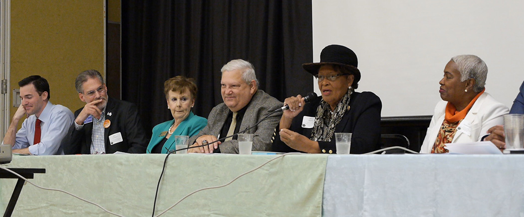 U.S. Representative Alma Adams at the 2016 Charlotte-Mecklenburg Food Policy Council Candidates' Forum.