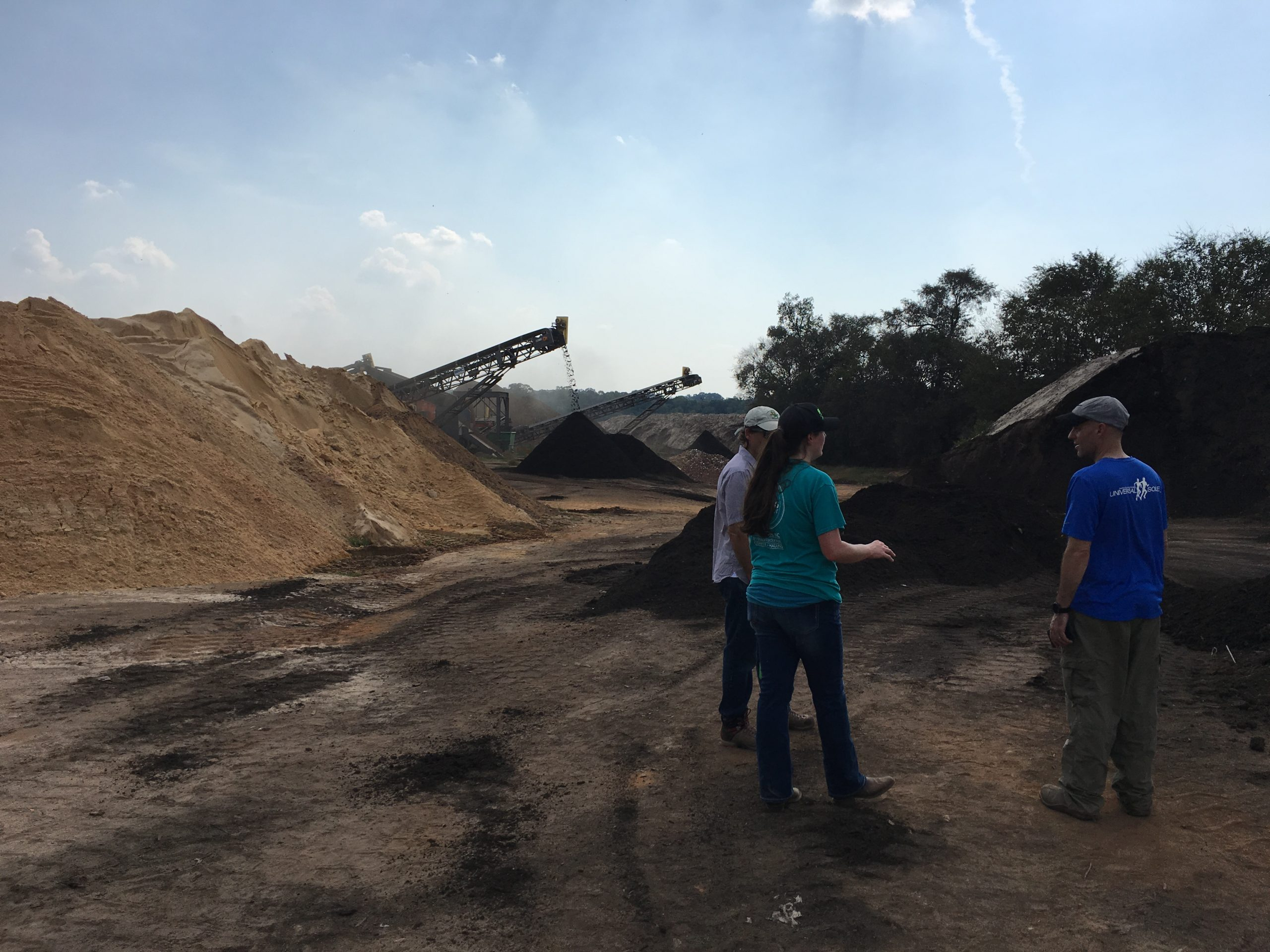 Site visit at Brooks Compost. The OCFC Coordinator helped facilitate a pilot composting program between Orange County Schools, Orange County Solid Waste, and Brooks Compost.