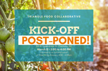 Triangle Collaborative kick-off postponed