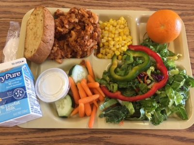 asheville city schools lunch tray